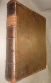 1745年  The Harleian Miscellany 《哈雷奇谭录》极珍贵全小牛皮豪华古董书 存世极少 超大开本 配补精美彩图