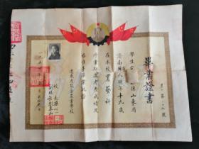 1954年辽东熊岳农业学校•毕业证