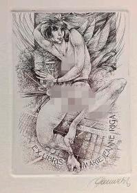 比利时 帕维尔 Hedwig Pauwels 版画藏书票原作8精品收藏11*15cm