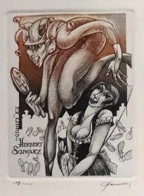 比利时 帕维尔 Hedwig Pauwels 版画藏书票原作5精品收藏