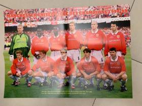 足球海报  1999欧冠 曼联/贝克汉姆