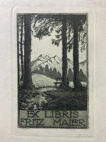 Adolf Kunst藏书票原作21