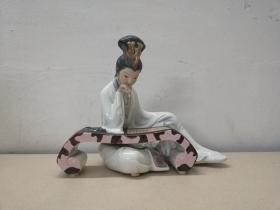 李清照*精美生动的文革瓷塑像