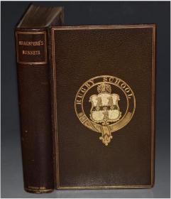 1881年William SHAKESPERE - The Sonnets 《莎士比亚十四行诗集》 全摩洛哥羊皮精装 名坊Suttaby装帧 手工犊皮纸