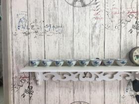 民国燕子瓷器小酒杯8个