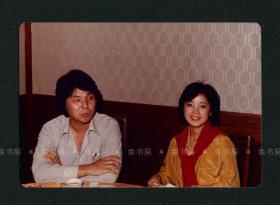 邓丽君与哥哥合影照片,罕见生活照,未发表?台湾早期原版老照片