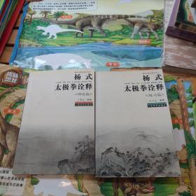 杨式太极拳诠释 练习篇+理论篇共两本合售