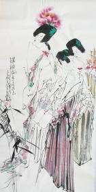◆【顺丰包邮】【纯手绘】【王西京】中美协理事、陕西美术家协会主席、四尺整张人物(138*68CM)1买家自鉴