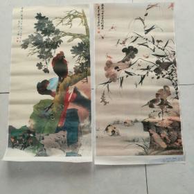 印刷收藏画,2张