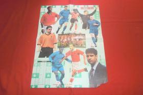 《足球俱乐部》双面海报:(荷兰旋风)(巨星辉映橙衣军团)2000年第13期  // 4开 自编号33【购满100元免运费】