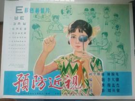 二开科教片电影海报《预防近视》