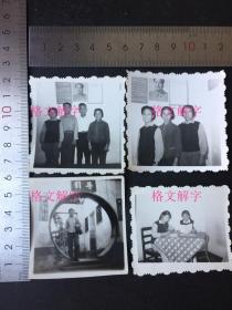 老照片 文革 毛主席语录 毛主席像 美女学习 4张 合售