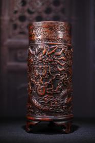 竹雕笔筒1   9f
