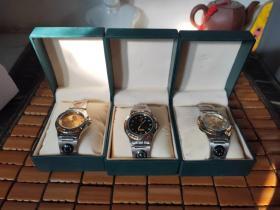 中国军表(中国人民解放军军用手表)军蓝色+金黄色+银白色【3件合售】有外套盒