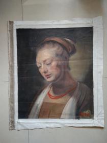 靳尚谊 手绘油画人物 创作年代不详