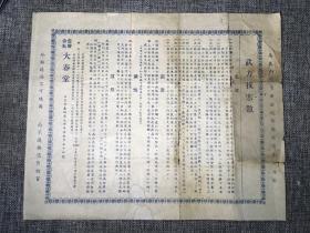 民国北京大春堂药广告