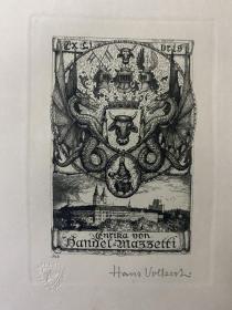 Hans Volkert藏书票原作19