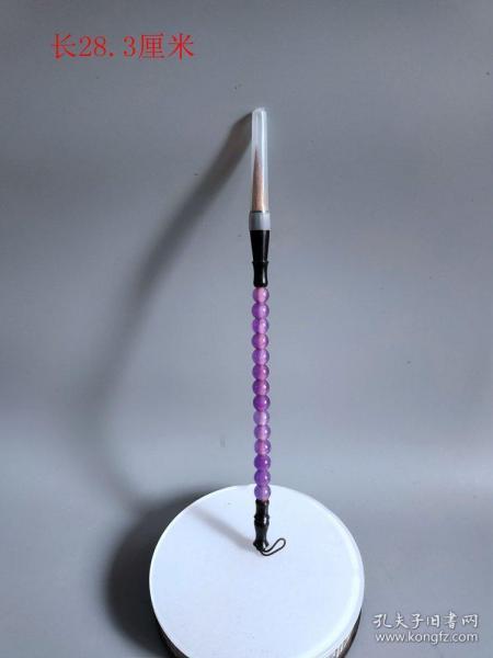 清代传世紫罗兰翡翠毛笔