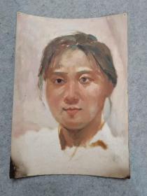 成都名家肖老文革时期在川美院油画人物作品原稿手绘真迹保真出售