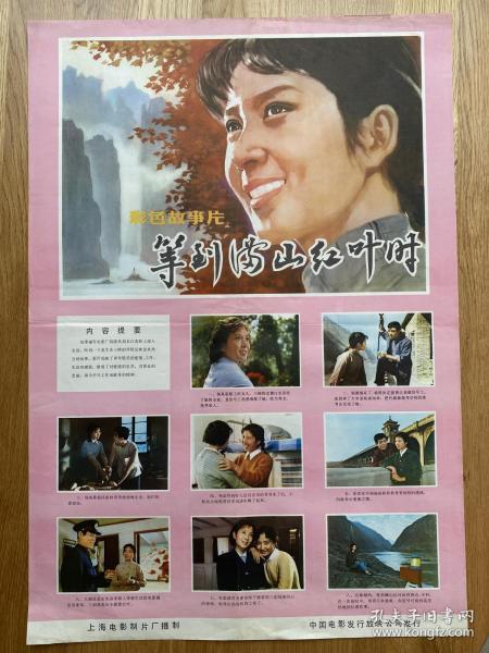 (电影海报)等到满山红叶时(二开)于1980年上映,上海电影制片厂摄制,品相以图片为准