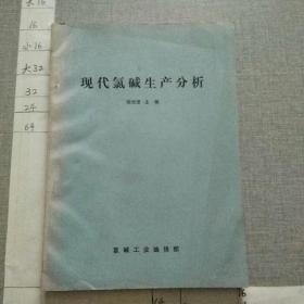 现代氯碱生产分析