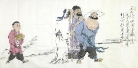 ★●【顺丰包邮】【纯手绘】【范曾】著名书画家、纯手绘四尺整张人物画(138*69CM)2买家自鉴