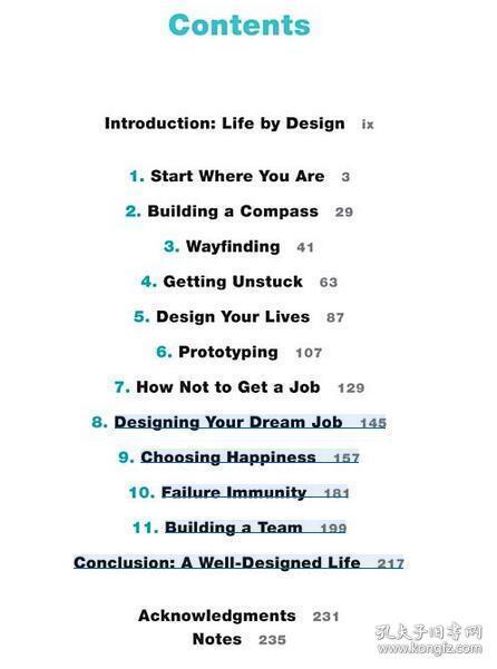英文原版 Designing Your Life 设计你的生活 精装原版