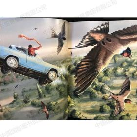 彩色插图套装 哈利波特与魔法石1 哈利波特密室2 Harry potter英?