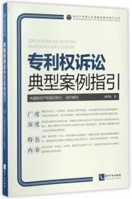 专利权诉讼典型案例指引/知识产权争议处理典型案例指引丛书--正版全新