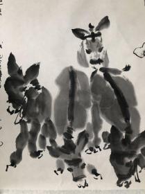 (双钻老店优惠,1幅9折,2幅8.5折,3幅8折,李宝峰放牧图,省诗词学会会长收藏作品流出,画面有收藏章,介意慎购。