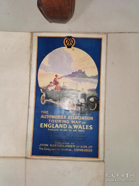The automobile association touring map of england&wales 英国汽车协会威尔士旅游地图