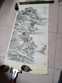 潘天寿,山水年画76*35Cm,