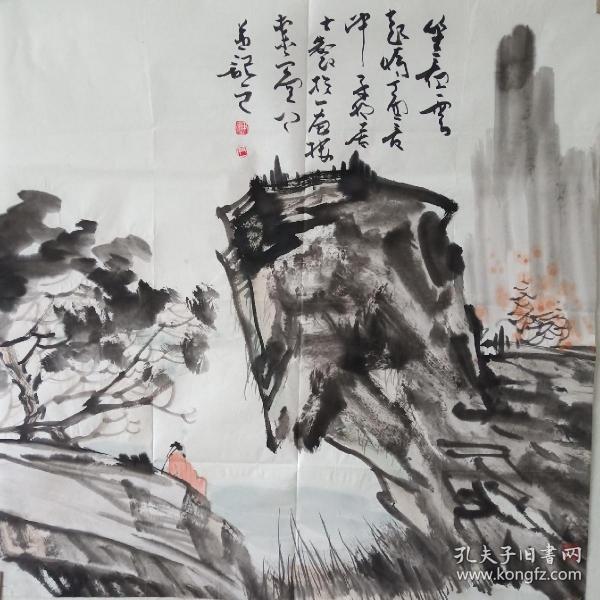 天津美院尹枫作品《坐看云起》