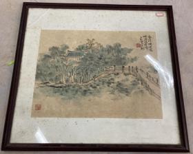 郁正光(三和堂主)国画 山水 镜片 39×29厘米 【发货不带框】