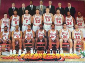 NBA 1998梦幻王朝的第六次梦想与荣耀 芝加哥公牛队乔丹皮蓬罗德曼 大嘴鳄鱼体育世界篮球海报 足球海报 意大利我的太阳德尔皮埃罗皮耶罗