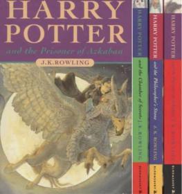 Harry Potter Boxed Set Books 1-3 by J. K. Rowling (2000, Paperback) 哈利波特123带盒全新