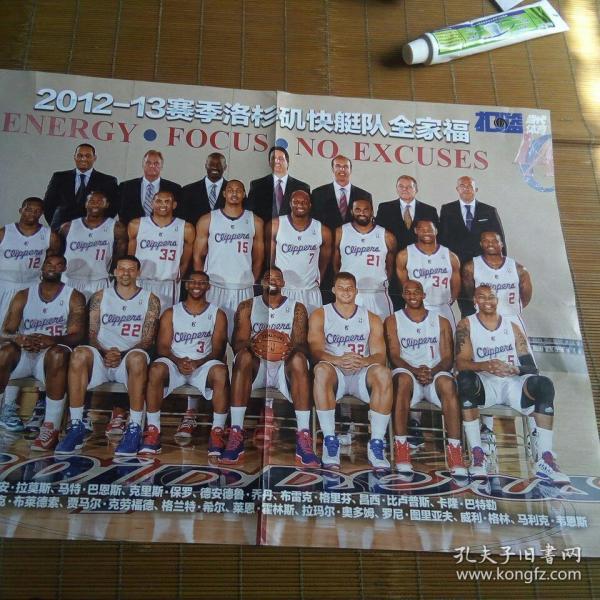 2012—13赛季洛杉矶去快船对全家福海报