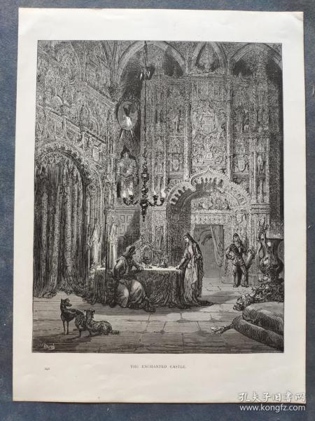 十九世纪 古斯塔夫·多雷 木口木刻 木版画242- 《THE ENCHANTED CASTLE》190905