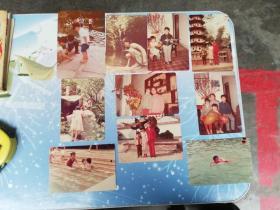 80年代广州老照片10张    兄弟姐妹合照  戏水,赏花  玩耍  游览