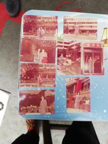 80年代广州老照片8张    美女春节在东方宾馆拍摄