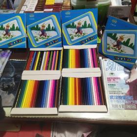 三星牌 24色 三星彩色铅笔(四盒合售)