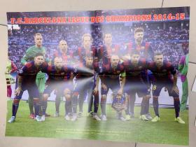 足球海报  2015欧冠 巴塞罗那/哈维·伊涅斯塔