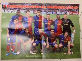足球海报  2009欧冠 巴塞罗那/梅西
