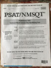 PSAT/NMSQT Preliminary SAT/National Merit Scholarship Qualiying Test