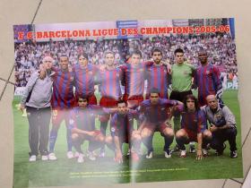 足球海报  2006欧冠 巴塞罗那/罗纳尔迪尼奥