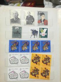邮票一本出售(有170多枚品相好的)开国一周年纪念 北海 蔡伦 太平天国 水浒传 中国古代神话  朱德 叶剑英 贺龙 等……