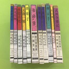 宫白羽武侠小说全集  11本合售