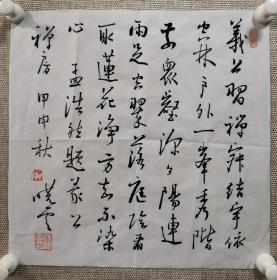 著名书法家孙晓云老师亲笔书写毛笔书法一副,小字小品,约一个平尺,保真!