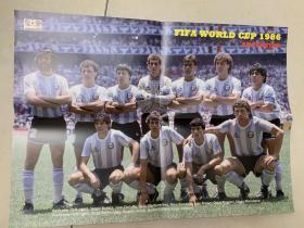 足球海报  1986世界杯 阿根廷队/马拉多纳