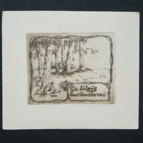 207- KAREL TOMAN 铜版藏书票